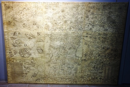 CARTA MARINA -the first map of Northern Europe including place names. Original created 1539 by the Swedish ecclesiastic Olaus Magnus.