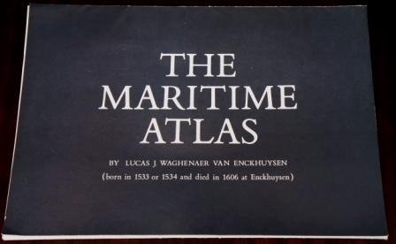 """The Maritime Atlas"", folder incl 13 charts published by VEB Deutfracht/Seereederei Rostock GDR. Based on 16th century originals by Lucas J. Waghenaer van Enckhuysen."
