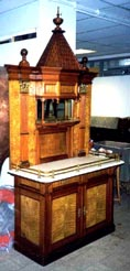 Early 20th century buffet from the Swedish armoured cruiser HMS Oscar II`s gunroom.