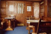 20th century smoke saloon from the Swedish steam ferry Drottning Victoria (1909), built by Swan, Hunter & Wigham Richardson Ltd in Newcastle-on-Tyne.