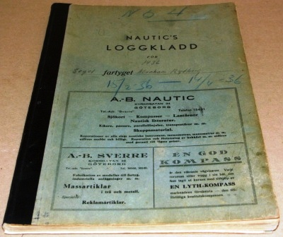Abraham Rydberg, Log Book
