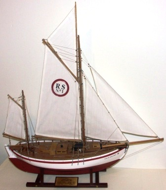 20th century built model depicting the Norwegian Sea Rescue vessel R.S. No 1 COLIN ARCHER. Built in Larvik 1893. Model built by S. Orsman, Scale 1:30.