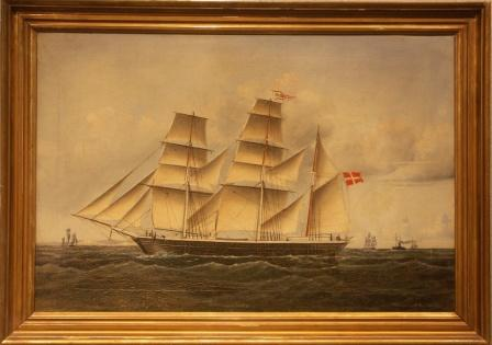The Danish three-masted barque MEDEA