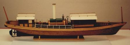 20th century built steam-powered wooden sloop. Complete with individually-built and functional steam engine.