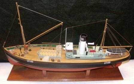 20th century built model depicting the wooden North Sea