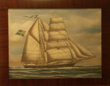 Karl Magnus af Wätö. 20th Century Ship Portrait, Watercolour/gouache.
