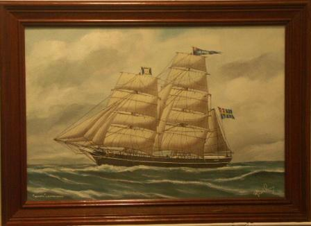 Henrik af Haparanda. 20th Century Ship Portrait, Watercolour/gouache.