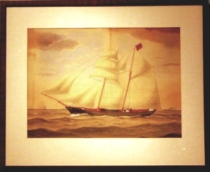 The British vessel Return. 19th Century Ship Portrait, Watercolour.