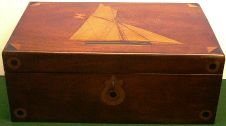 Marquetry work-box