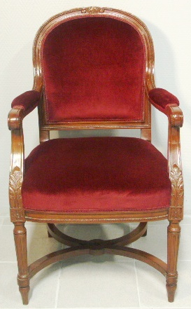 Mahogany armchair from the passenger ship Mauretannia built 1939.