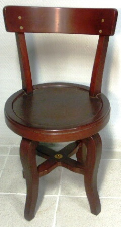 Swivel-chair in mahogany. 1950's.