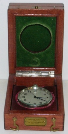 20th century deck officers watch made in CCCP (USSR). In original wooden box.