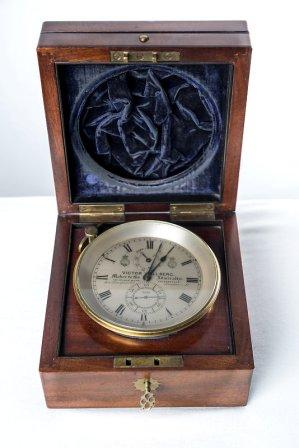 Rare 19th century Victor Kullberg two-day marine chronometer No 4222, used onboard the steam frigate H.M.S. VANADIS during her world around cruise 1883-85.