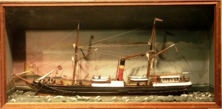 Late 19th century sailor-made diorama depicting the British steam vessel KETURA