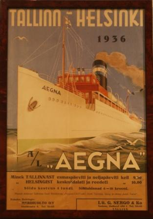 Depicting the Estonian passenger ferry