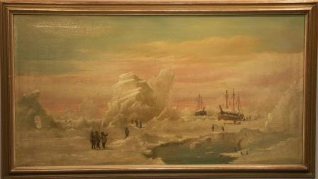 Sailing vessels trapped in arctic waters