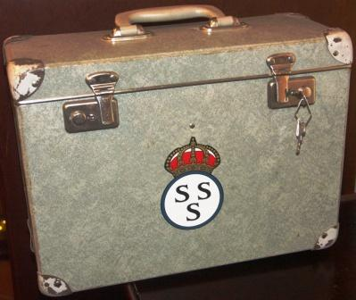 1940's/1950' archives case from the Royal Swedish Yacht Club KSSS