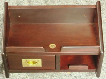 Wall-mounted bedside cabinets in mahogany from the Italian liner M/N G. Verdi. Incl drawer with brass handle.