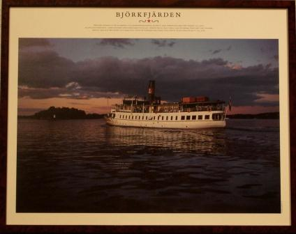 Depicting the Swedish archipelago-steamer BJÖRKFJÄRDEN, built in 1925