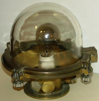 20th century electrified ceiling lamp made of brass
