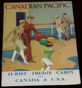 January 1929 published 3rd class cabin leaflet for pleasure travel to Canada & USA , Swedish edition. Illustrated with phographs and route map.