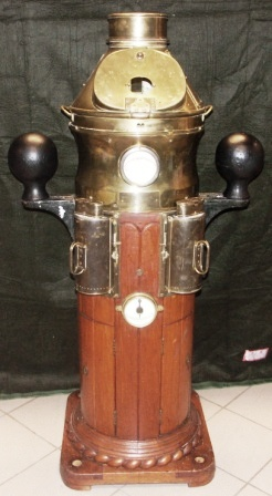 Early 20th century binnacle No 68 from the full-rigged steel ship AF CHAPMAN. Complete with compass and detachable illuminations.