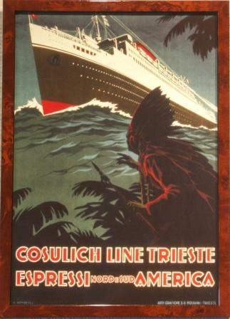 Express to North and South America with the Italian shipping company Cosulich Line Trieste