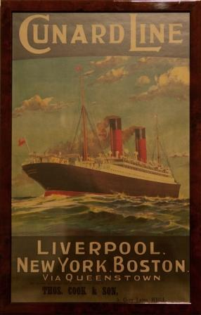 Depicting Caronia of Liverpool, Cunard Line