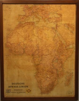 """Deutsche Afrika-Linien"" shipping company map"