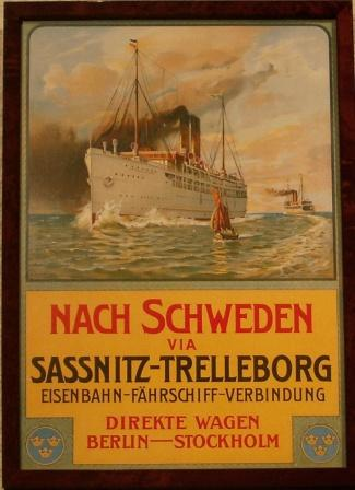 Depicting the Swedish railway ferry DROTTNING VICTORIA