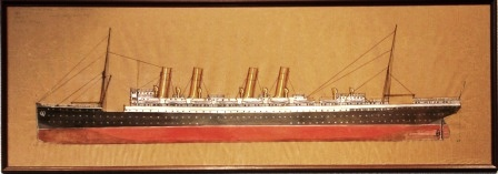 Depicting the German passenger liner KAISER WILHELM DER GROSSE Norddeutscher Lloyd - Bremen