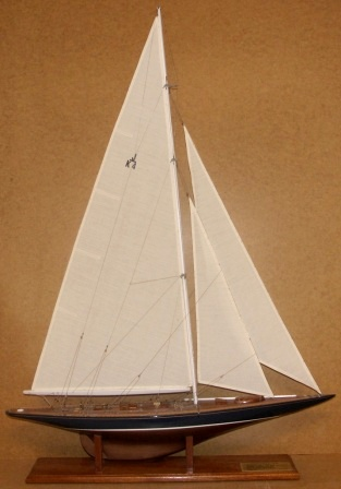 20th century built model depicting the ENDEAVOUR, built 1934 by Camper & Nicholson. Scale 1:50.