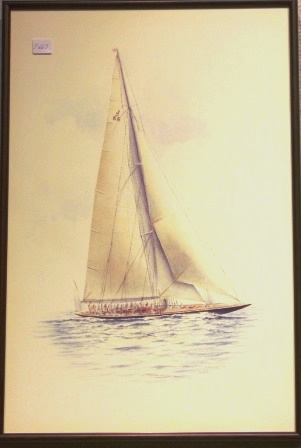Depicting the J-Yacht ENDEAVOUR II 1937