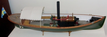 20th century built steam-powered wooden sloop NORA. Complete with individually built and functional steam engine.