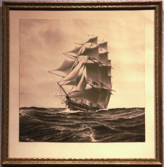 Depicting the FALCON under full sail