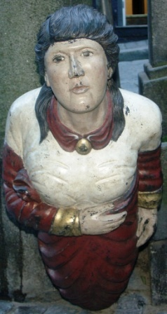 Late 19th/early 20th century wooden figurehead.
