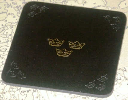 Glass Pads / Coaster with the Royal Three Crowns