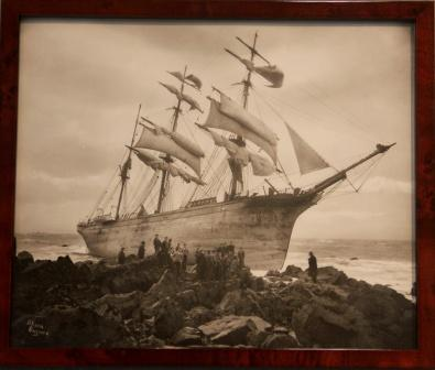 The barque GLENBERVIE stranded at Lizard 1902
