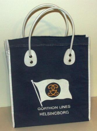 1960's bag in fabric from GORTHON LINES