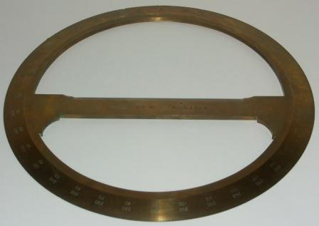 20th century 360° protractor in brass. Made by T. Cooke & Sons Ltd., London & York.