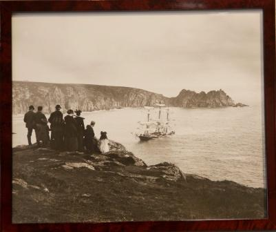 The full-rigged ship GRANITE STATE stranded at Porthcurno 1895