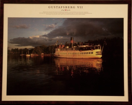 Depicting the Swedish archipelago-steamer GUSTAFSBERG VII, built in 1912
