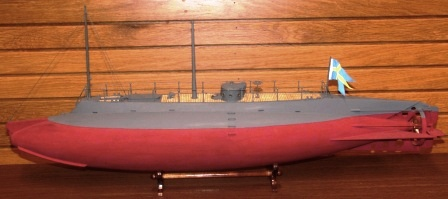 20th century built model. Depicting HMS HAJEN, Swedens first submarine built in 1904.