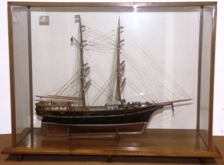20th century sailor-made model. Depicting the Swedish brig HELGA of Hudiksvall, built in the 1890's. Model made by O.M. Stark, Hudiksvall, in 1931. Restored by Petrus Boman, Sandhamn in 1969. Mounted in origianal case.