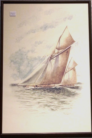 Depicting the racing yachts ALACHIE & JERNE 1911