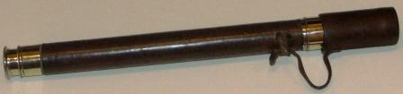 Early 20th century hand-held refracting telescope. Made by Negretti & Zambra, London 1903. Crome-plated and leather bound, one draw.