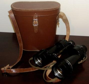 1938 British binocular as used by the Navy. Made by Ross - London, MKIIx7 No 402. Incl original leather case.