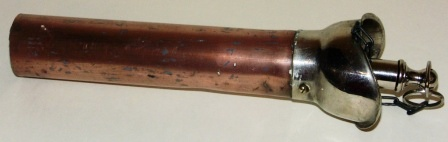 20th century detachable copper/stainless speaking/voice tube.
