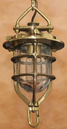 20th century electrified brass signal lamp.