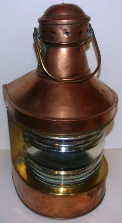 20th century copper masthead light. Manufacturer unknown.